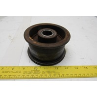 "Steel Power Drive Flat Face Idler 4"" OD 3"" Wide 1"" Bearing"