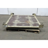 "Industrial 360° Pallet & Skid Turntable 50""x50""x5"" 4000 Lb. Cap. Slewing Bearing"