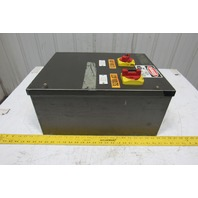 "Hoffman A-20C16BLP Electrical Enclosure 20x16x8"" Fusible Disconnect Control Box"