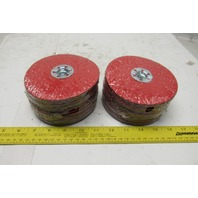 "CGW 5"" X5/8-11  36 Grit  Quick Lock Ceramic Blend Disc 12200 RPM Max lot of 25"