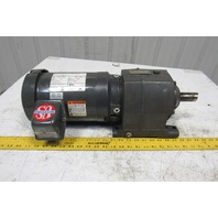 US Motors E190 22.4:1 Ratio 78RPM 208-230/460V 3Ph Inline Helical Gear Motor