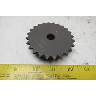 "35B24 #35 Single Strand Roller Chain Sprocket 24T 1/2"" Stock Bore"