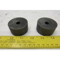 "Graphite Round Block Puck 2"" OD x 1""T  17/64"" Hole Lot Of 2"