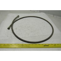 "60"" OAL 1/4"" ID Stainless Steel Braided Hydraulic Line -6 9/16"" Flare JIC Female"