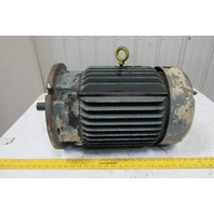 "Baldor 10Hp 1760RPM 460V 60Hz 256UD Cast Iron Electric AC Motor TEFC 1-3/8""Shaft"