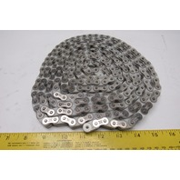 Tsubaki RF40PC #40 Single Row Poly Steel Roller Chain Stainless Steel Links 10'