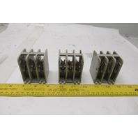 General Electric 75C155001-P101 Fuse Holder Terminal Block Lot Of 3