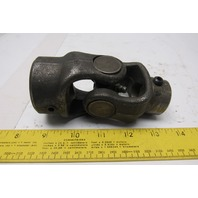 "Steel Universal Joint Coupler 5"" OAL 7/8"" & 1-1/4"" Keyed Bore"