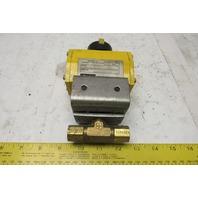 """Parker 61AD Pneumatic Actuator W/1/4"""" Ball Valve 120 PSI"""