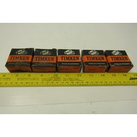 "Timken 05062 5/8"" Bore Tapered Cone Roller Bearing Lot Of 5"
