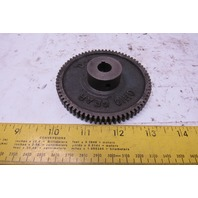 """Ohio Gear IS2070 3-9/16"""" OD 70T 1/2"""" Bore 3/8"""" Thick Spur Gear"""