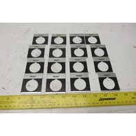 RESET Legend Plate For 30mm Switch Lot Of 16