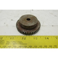 """Browning NSS2050 2-1/2"""" OD Spur Gear 50 Teeth 14.5° 3/8"""" Face 3/8"""" Stock Bore"""