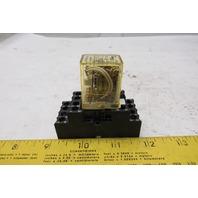 Idec RY4S-UL Ice Cube Relay W/Socket Base 24VDC