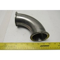"""2-1/2"""" Stainless Steel O-Ring Flange Sanitary Elbow 90°"""