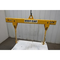 "850 Lbs. Spreader Bar Box Frame Lifting Rig 30""-42"" Wide 16"" Capacity"