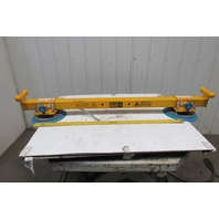 "Anver 1000 Lbs. 8' Load Length Capacity Vacuum Lifter Spreader Bar 12"" Pads"