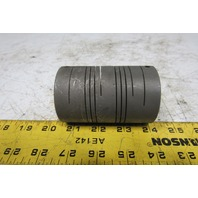 """1"""" x 5/8"""" Bore 1 Piece Slit Clamp On Shaft Coupling"""