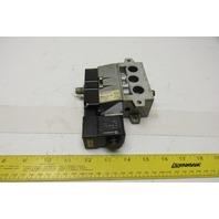 Norgren SXE9573-871-M1 5/2 Solenoid Actuated Air Valve W/ Base 24V Coil