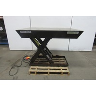 "AutoQuip 2500Lb Scissor Lift Table 60"" x 46""Top 460V 3Ph 8-1/2"" to 44"" Height"
