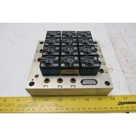 Rexroth Crouzet 81521501 Pneumatic Logic Component & Element Manifold Assembly