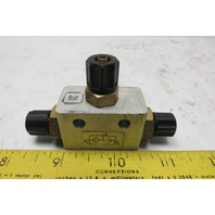 """Rexroth 5342010200 Pneumatic 3 Way Shuttle Valve For 5/32"""" ID Hose"""