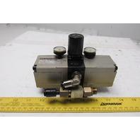 SMC EVBA1110 1-10 Bar Input 20 Bar Output Pressure Booster Regulator