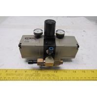 SMC EVBA1110-F02 0.1-1.0MPa To 2.0MPa Output Pressure Booster Regulator