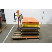 "Pneumatic Scissor Lift Table 2000 Lb Cap 38""x24"" Platform 7"" To 24"" Height"