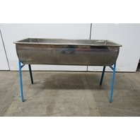 "Custom Fab Stainless Steel Wash Bay Drink Ice Tub On Stand 18-1/2""x 48-1/2"""