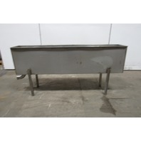 "Custom Fab Stainless Steel Parts Wash Basin On Stand 12"" x 72"" x 18"" Deep"