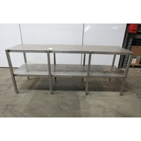 "Custom Fab Stainless Steel Parts Assembly Lab Work Bench 24"" x 90"" x 36"" Tall"