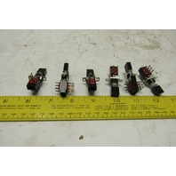 Centralab PBS-2M 2PDT Momentary Contact 1A-28 VDC .45A-115V Push Button Lot/6