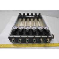 Sella Vile Flow Pressure Regulator Temperature Monitor 6 Station