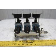 Rexroth Mecman REG.C4i 12Bar Air Pressure Regulator 3 Way Manifold Assembly