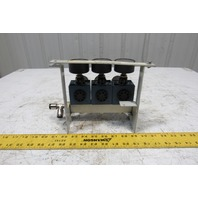 Rexroth Mecman 5350221010 6 Bar Air Pressure Regulator 3 Way Manifold Assembly