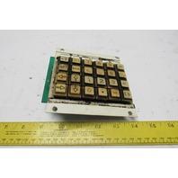Amada S-2773 B06350-KBIB 24 Button Key Circuit Board