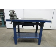 "48x28x34"" Web Cast Iron Fabrication Layout Welding Table Work Wilton Bullet Vise"