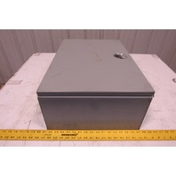 "Hoffman A-24N16BLP 24 x 16 x 8"" Type 1 Non Locking Electrical Enclosure"