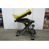 "Autoquip 36S25 2500Lb Scissor Lift/30° Tilt Table 42""x42"" Top  19"" to 54"" Height"