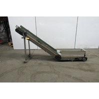 "TEC 12"" Wide Cleated Small Parts Incline Conveyor 21 FPM 39"" Discharge 115V"