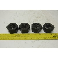 "1-1/8""-7 Standard Heavy Hex Nuts Lot Of 4"