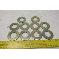 "1"" ID x 2"" OD Flat Washer Brite Finish Lot Of 10"