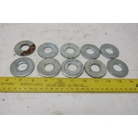 "13/16"" ID x 2"" Flat Washer 11/34"" Thick Lot Of 10"