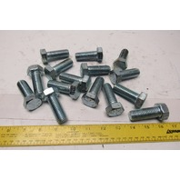 "3/4-10 x 2"" Full Thread Zinc Coated Grade 5 Hex Head Bolt Lot Of 15"
