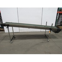 "TEC Adjustable Incline 10' Slide Bed Conveyor 17"" Wide Belt 115V 22FPM"