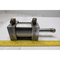 "Motion Controlled 2-1/2"" Bore 1"" Stroke  3-3/4"" Extended Shaft Air Cylinder"