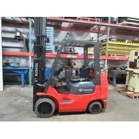 Toyota 7FGCU25 Smooth Tire LP Forklift 3 Stage 5000 lb Capacity Side Shift