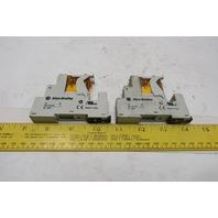 Allen Bradley 700-HK32A1-3-4 700-HN222 120V AC Relay Module And Base Lot Of 2