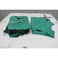 Green Cloth Welding Apron/Chaps Lot of 12